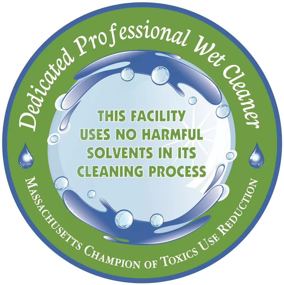 Logo for Massachusetts cleaners that have adopted professional wet cleaning. - Image Credit: TURI,  CC BY-ND