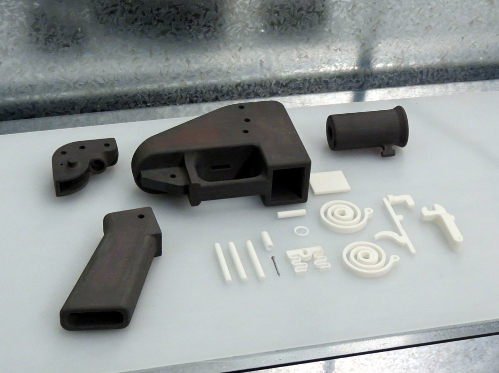 Tiny, but deadly, flaws may be hiding in the parts of this 3D-printed gun. - Image Credit: Justin Pickard/Flickr , CC BY-SA