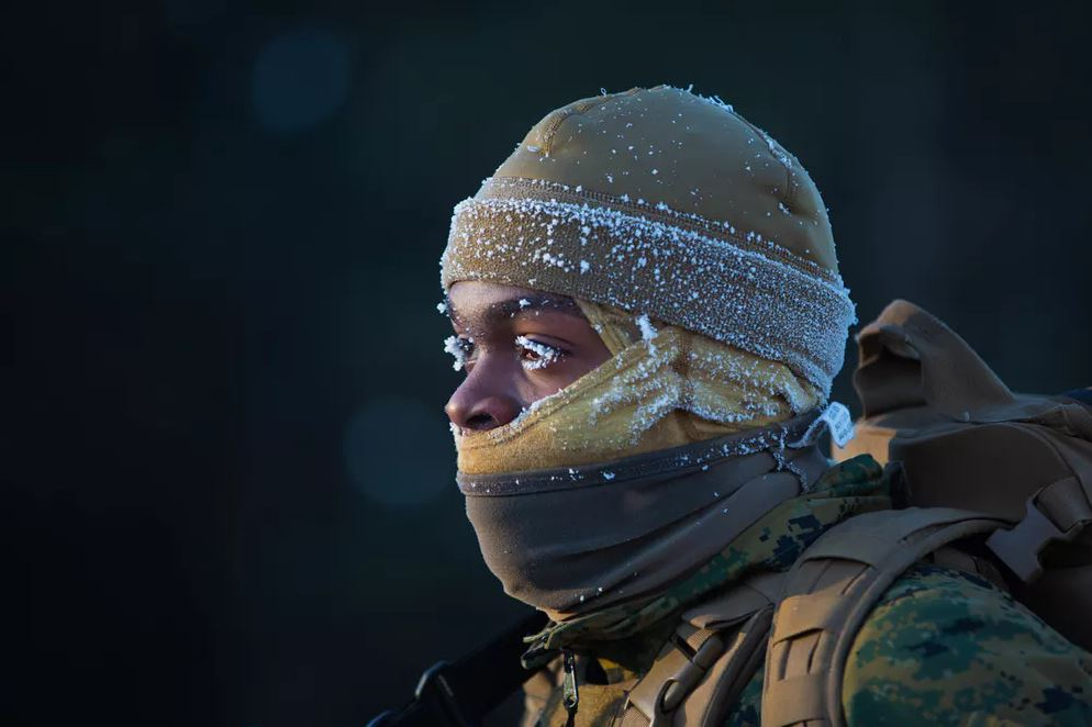Some jobs necessitate being out in inclement weather, and your physiology has some defenses against cold conditions.- Image Credit:  U.S. Marine Corps/Lance Cpl. Cody Rowe via flickr  ,  CC BY-NC
