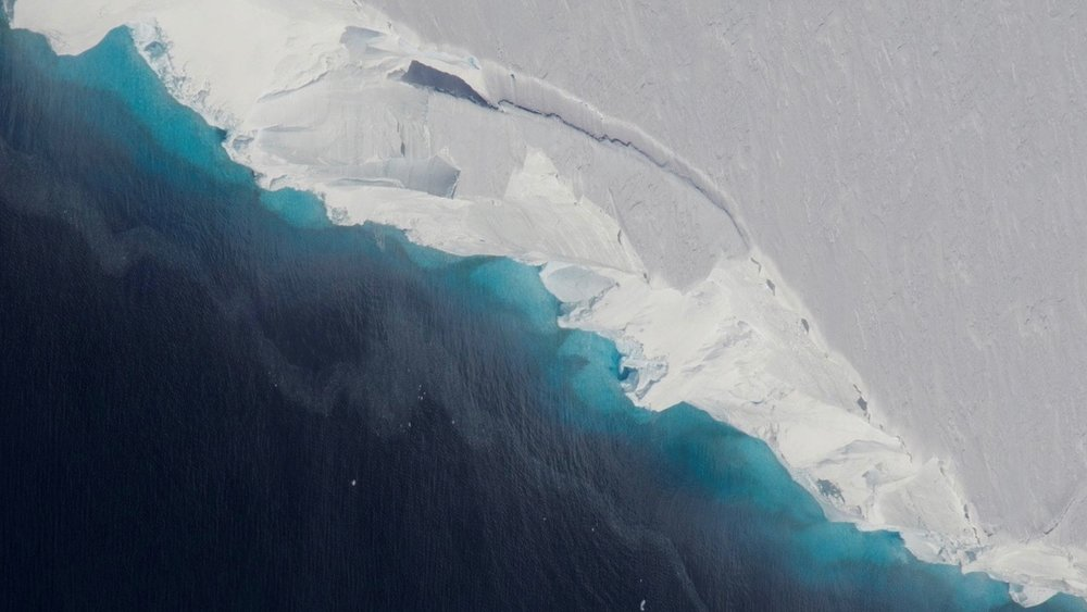 Thwaites Glacier. - Image Credits: NASA/OIB/Jeremy Harbeck