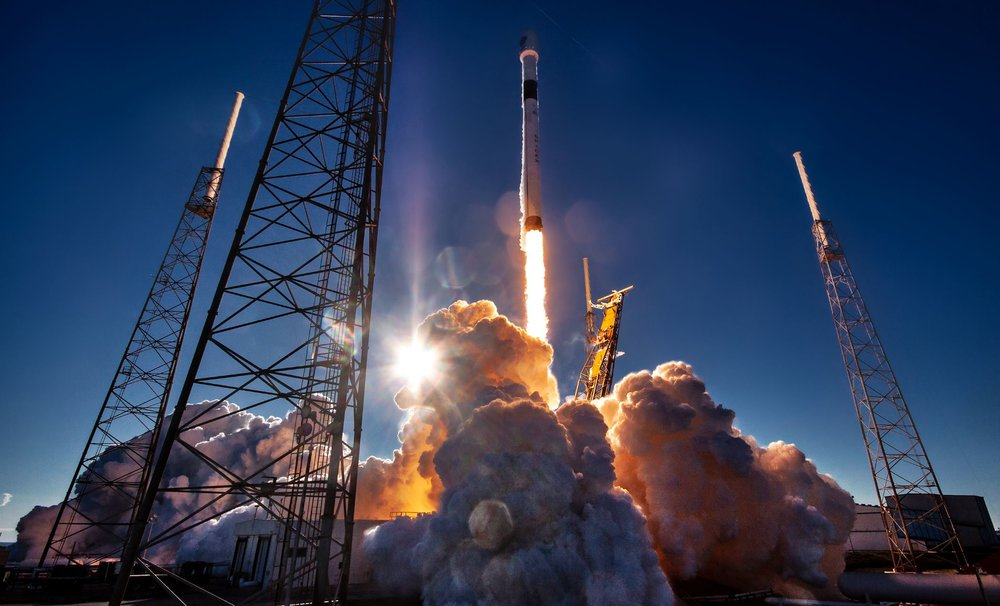 A SpaceX falcon 9 rocket launch - Image Credit: SpaceX
