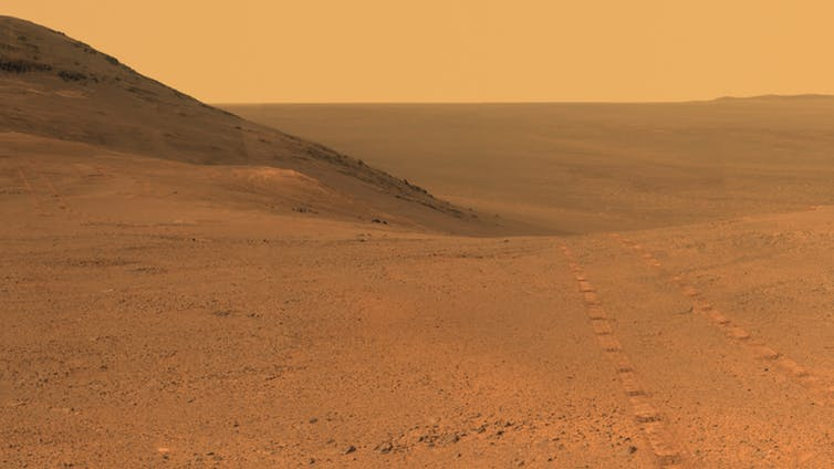 Opportunity outside Endeavour crater. - Image Credit: NASA/JPL-Caltech/Cornell/Arizona State Univ.