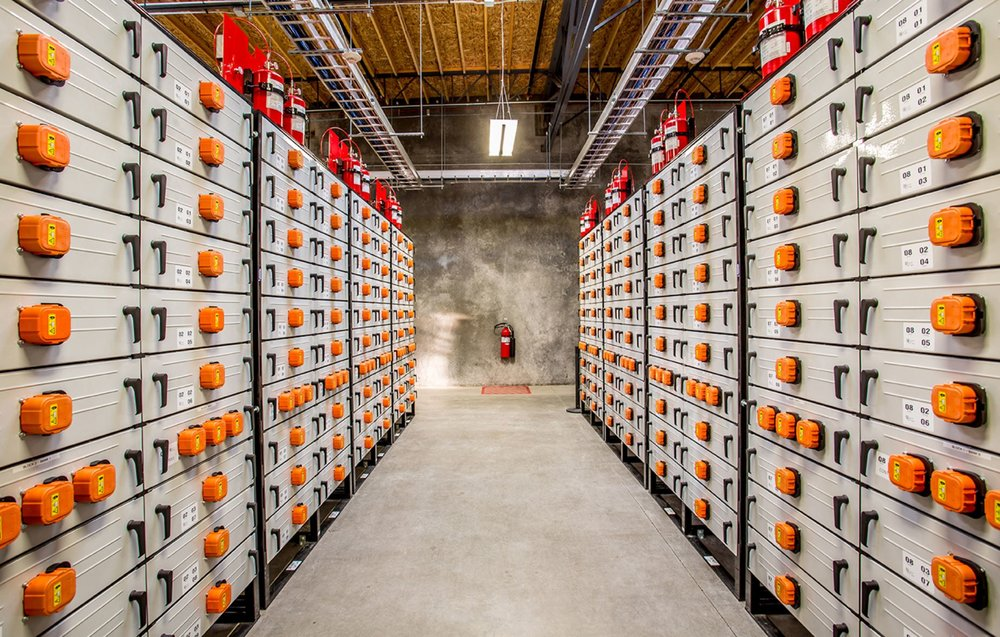This is what a 5-megawatt, lithium-ion energy storage system looks like. - Image Credit:  Pacific Northwest National Laboratory