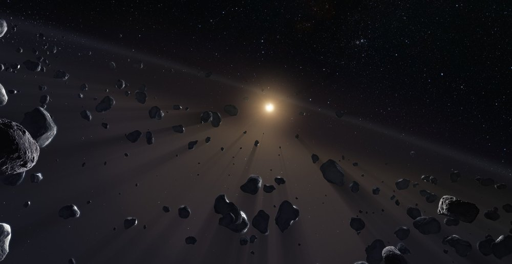 Where are the smallest of the icy worlds we thought resided in the Kuiper belt?- Image Credit:   ESO/M. Kornmesser