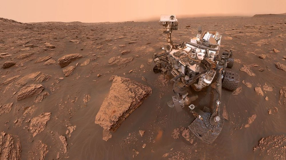 One of our beloved robots on Mars - Image Credit:  NASA/JPL-Caltech/MSSS