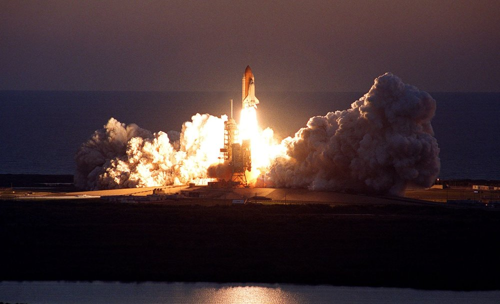 NASA has launched all of its space shuttle missions using hydrogen as fuel. - Image Credit: NASA , CC BY