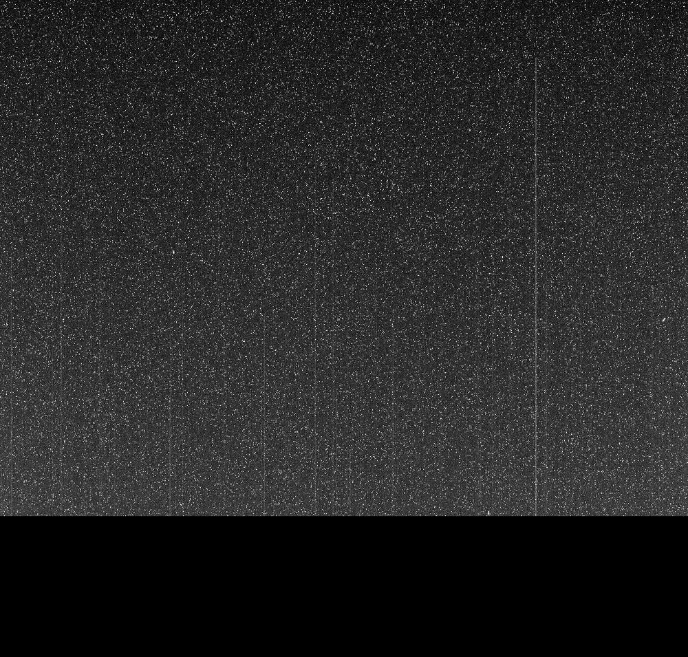"""Taken on June 10, 2018 (the 5,111th Martian day, or sol, of the mission) this """"noisy,"""" incomplete image was the last data NASA's Opportunity rover sent back from Mars. - Image Credit: NASA/JPL-Caltech/Cornell/ASU - (click image to enlarge)"""