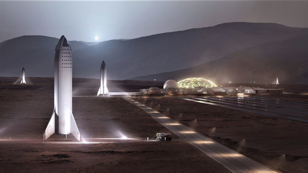Artist's impression of SpaceX's proposed Mars Base Alpha. Credit: SpaceX