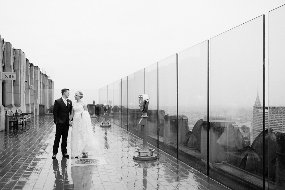 Top of the Rock intimate wedding by Tanya Isaeva Photography
