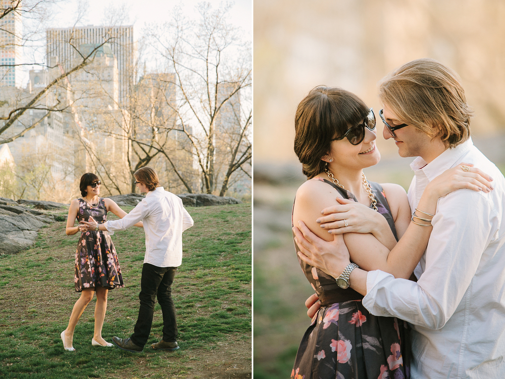 Central Park spring engagement session by Tanya Isaeva Photography