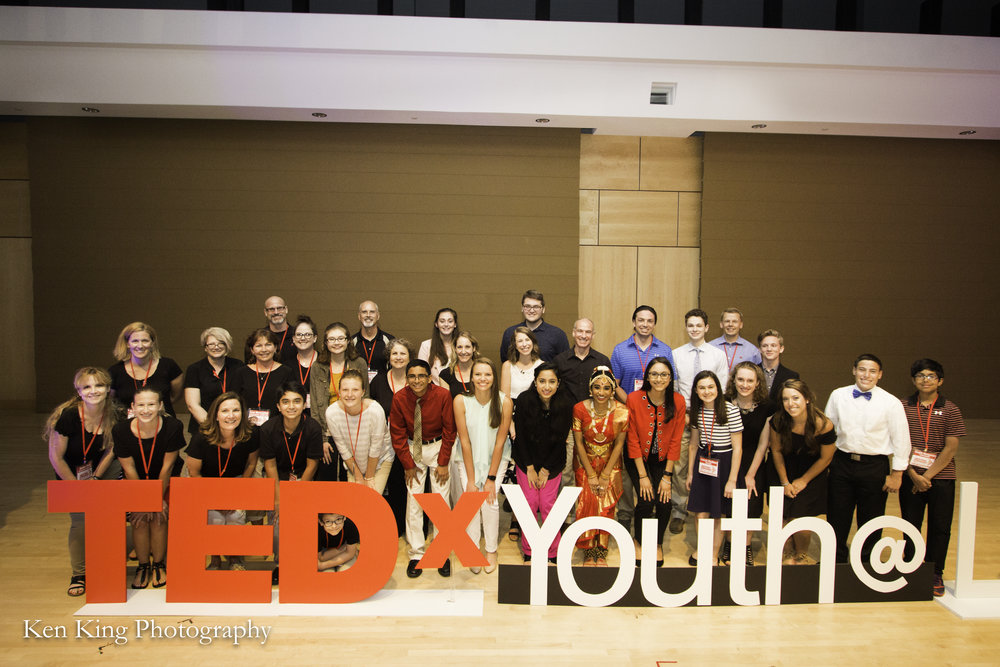 Speakers, performers, and volunteers from the inaugural TEDxYouth@Lancaster