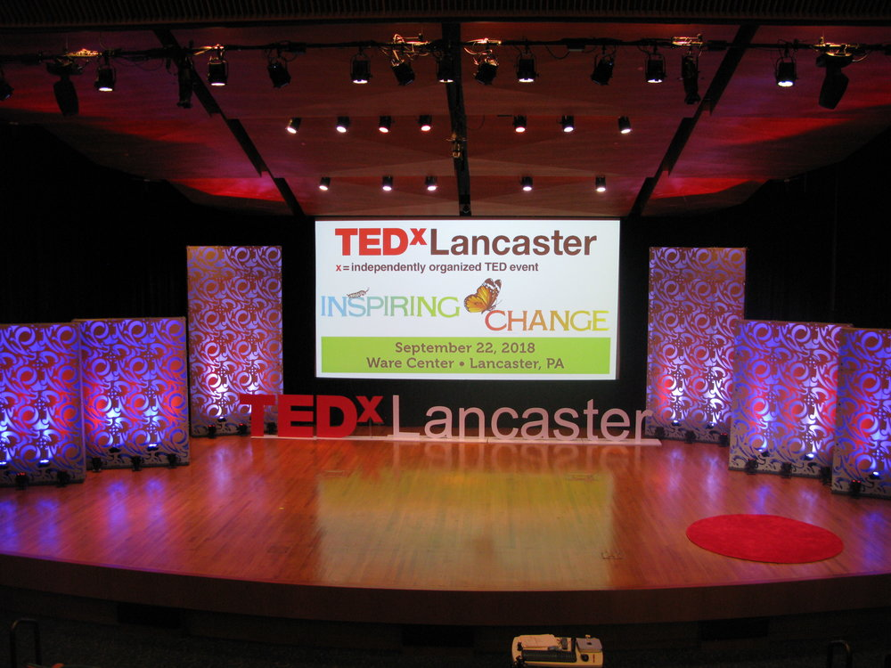 The TEDxLancaster 2018 stage