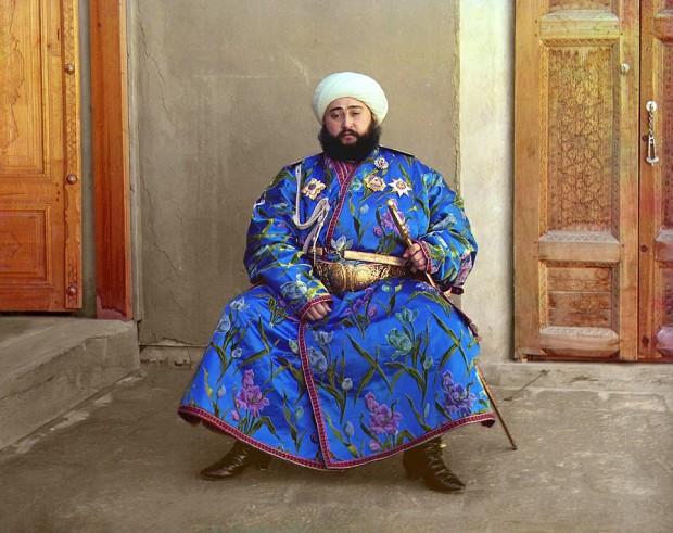 Emir Seyyid Mir Mohammed Alim Khan, the lat Emir of Bukhara (present-day Uzbekistan)