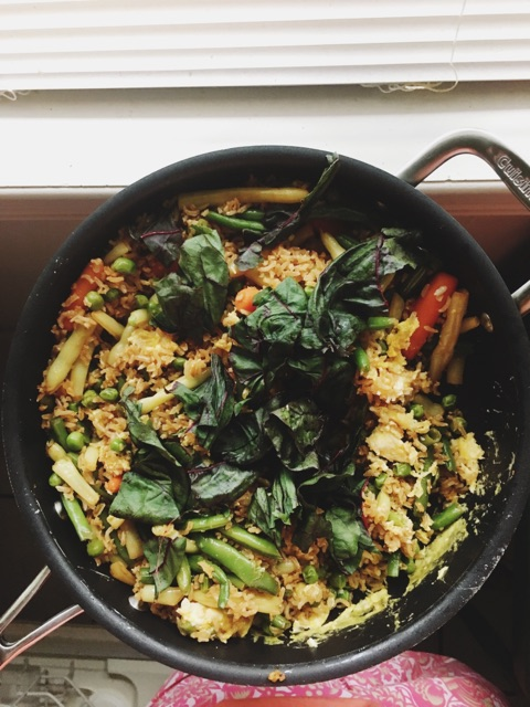 Veggie Fried Rice (An excuse to use up anything in the fridge)