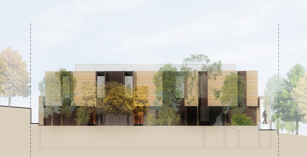 Proposed street elevation of a multi-res building in Kew, Melbourne. Currently in Town Planning phase.