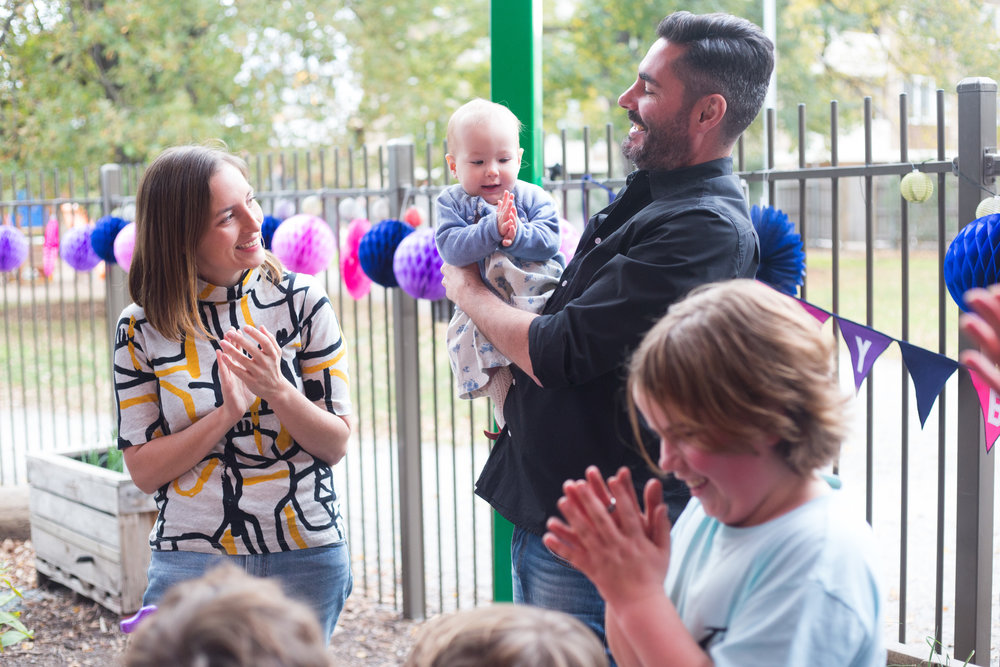 Kate and Jason celebrate Henrietta's first birthday