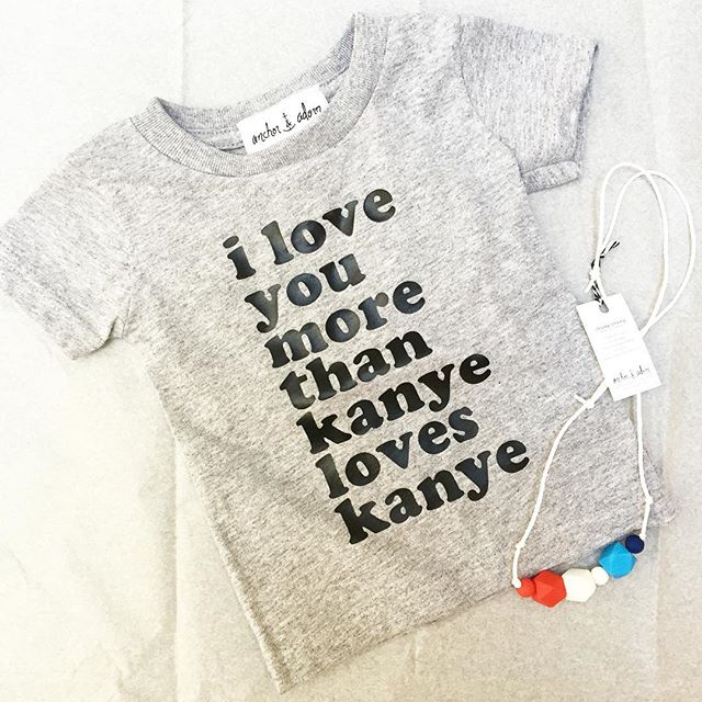 our #kanye littles shirts are killin it. you could say that they are the best shirts of all time (lil kanye joke for ya) have you gotten yours yet?
