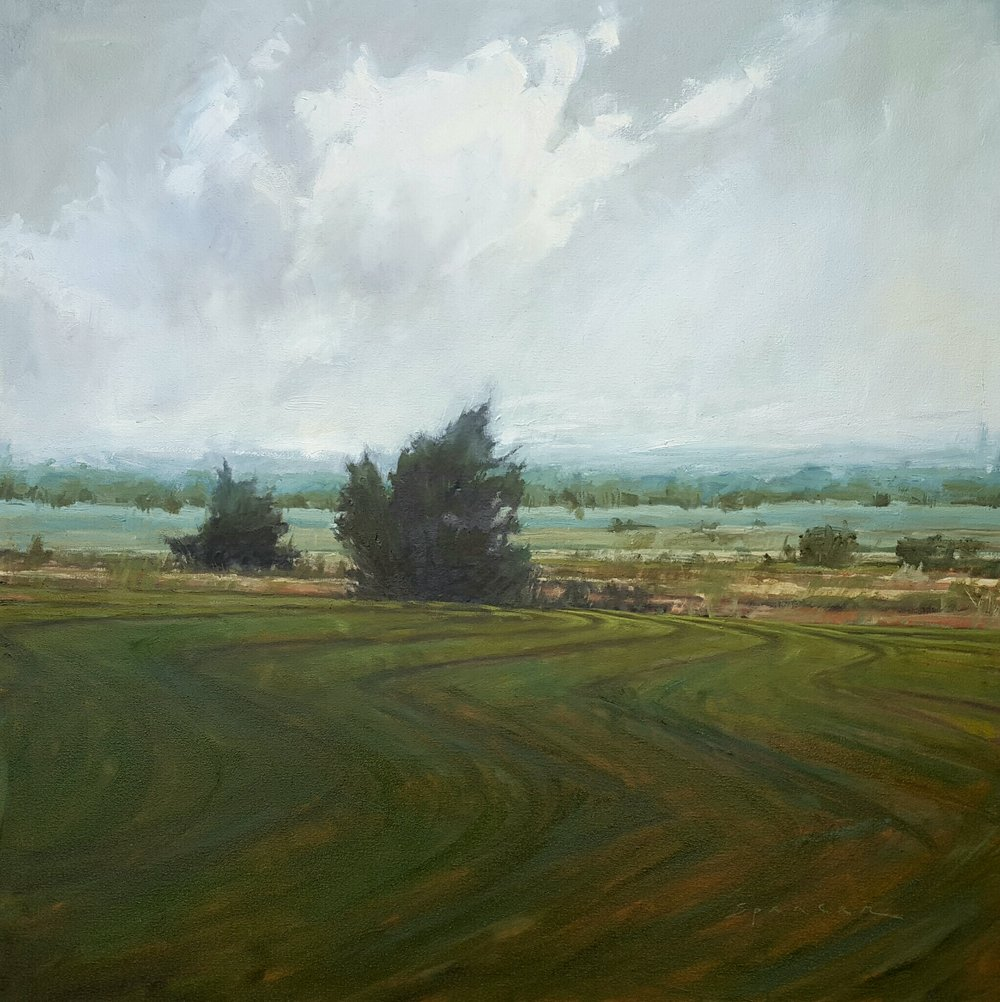 Just Over That Hill, 36 x 36, oil on canvas, 2017, 1.34.jpg