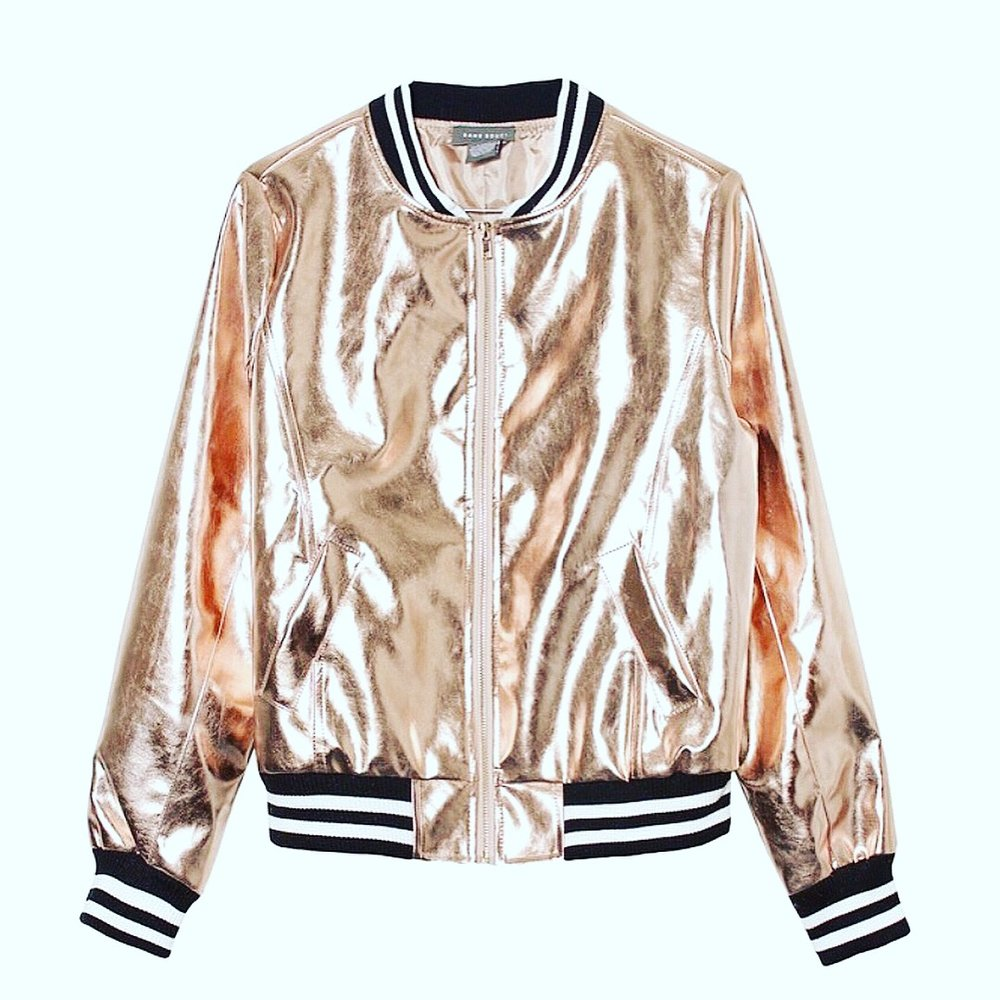 Gold Bomber Jacket Available at Styletress.com