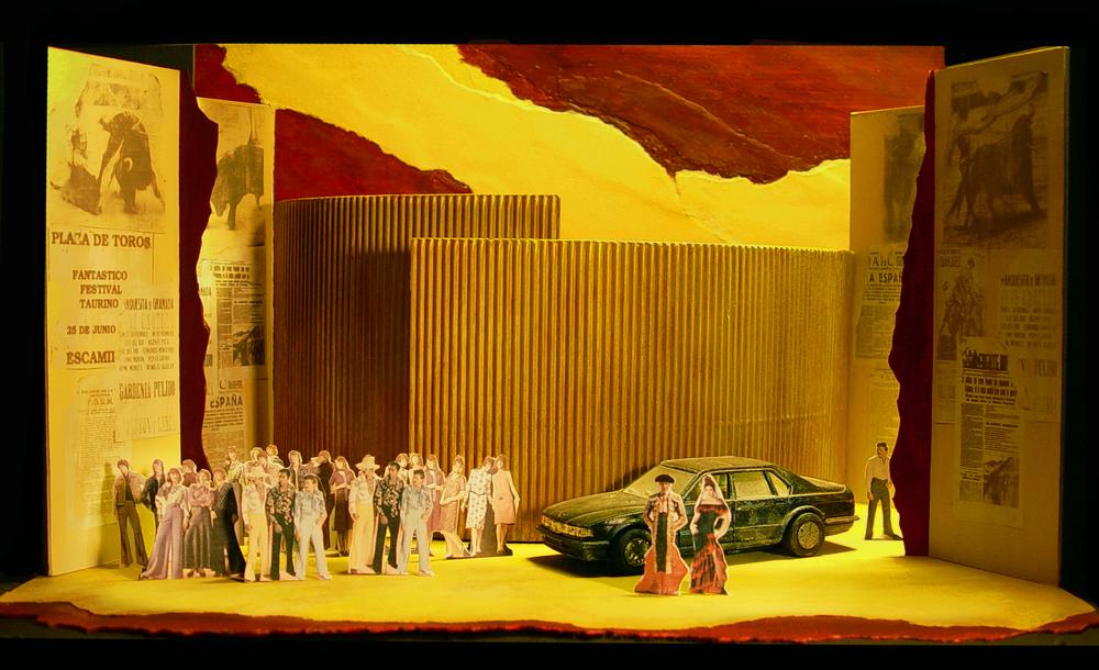 "1/4"" Scale Model      Carmen at MinnesotaOpera     Scenic Design by Erhard Rom"