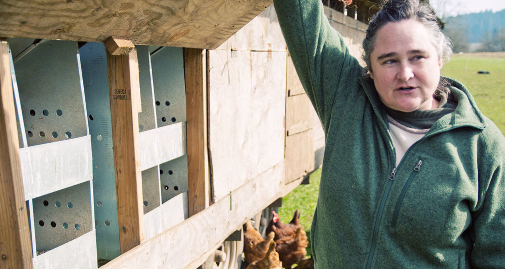 Christine Deck, co-owner of Deck Family Farm shows us around and tell us about the struggles and rewards of being a small family farm.