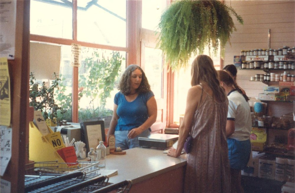 late 80's Joyce running the check out 001.jpg