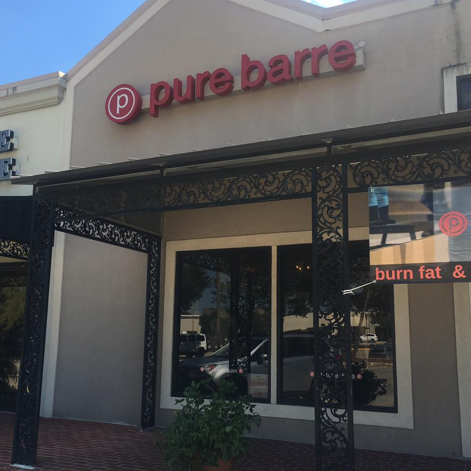 Pure Barre Mandeville storefront; no reproduction of their classes were allowed so check the link below to see what the movements look like!