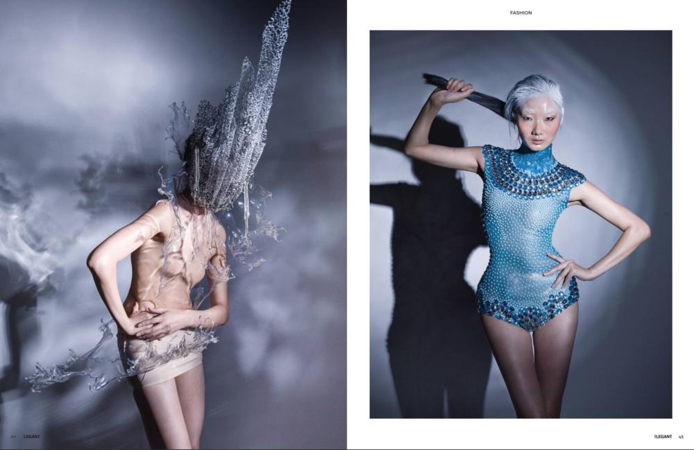 Elegant magazine cover Dec 2016  photographer by Stone Zhu  Model by QiQi Ge