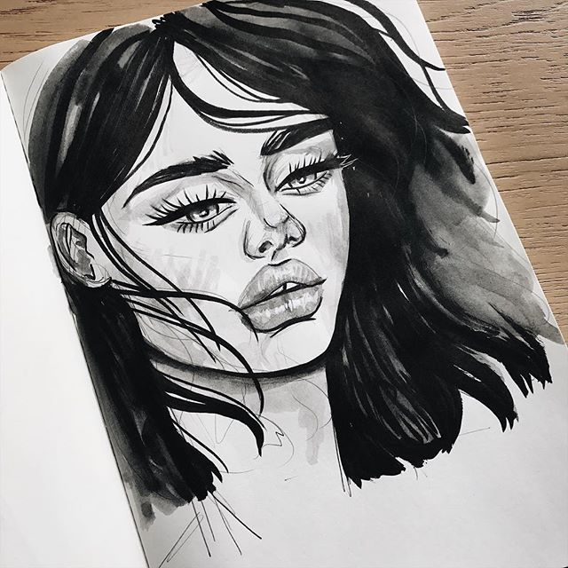 Another ink sketch 🖤 #sketchbook #ink