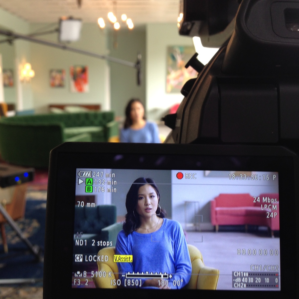 Actress Candace Wu from  Fresh Off The Boat  as framed with the Canon C100.