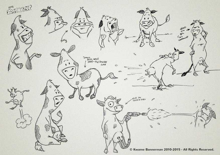 Concept designs for Milk Advert