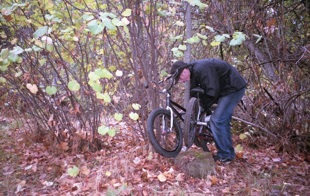Mike locking up midway another adventure.
