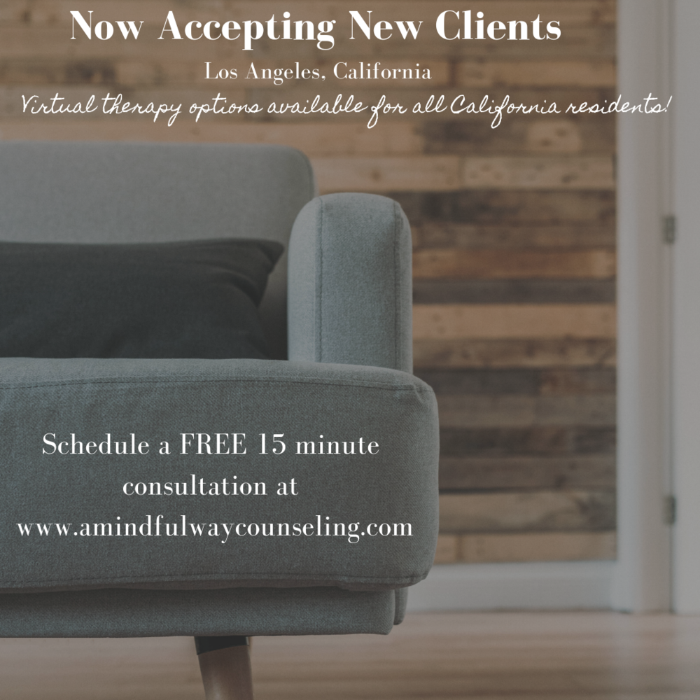 Work with me at A Mindful Way Counseling and Energy HealingLos Angeles, California & virtual! -