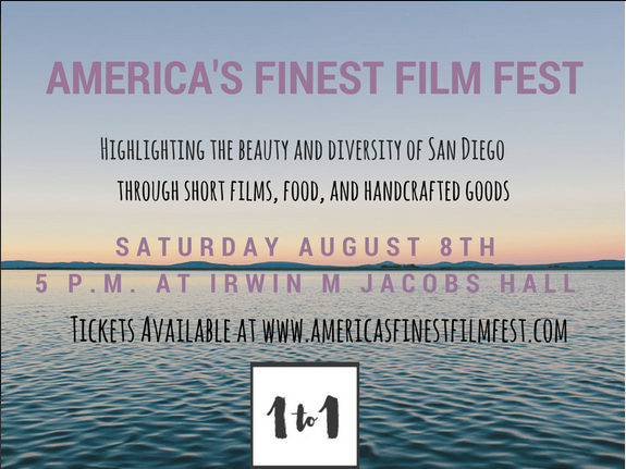Come see us at our pop-up shop at America's Finest Film Fest! We will be one of the featured local vendors at this event with great films, local food, and craft beers.