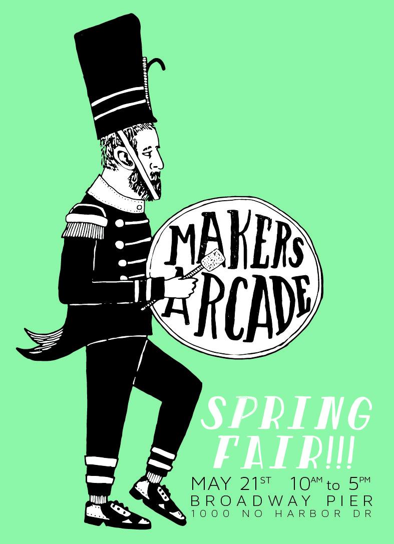 Come see us May 21st at Maker's Arcade!