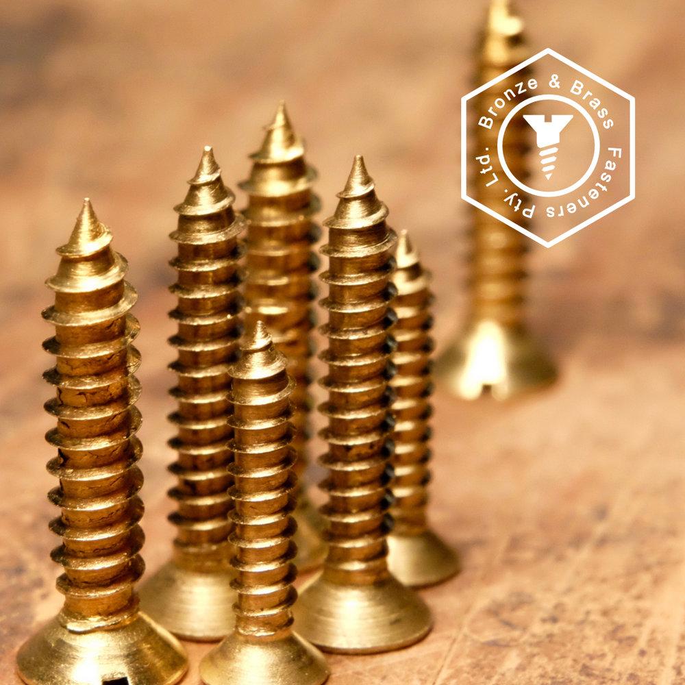Brass Wood Screws - Self Tapper