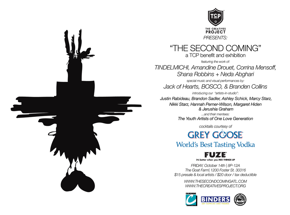 THE SECOND COMING: AN EXHIBITION & BENEFIT for THE CREATIVES PROJECT