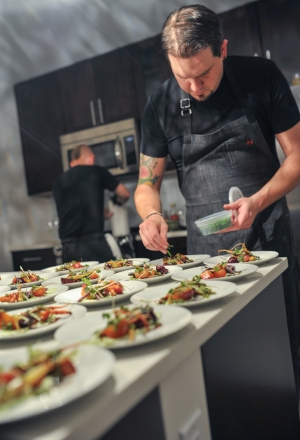 Chef Cooper Miller preparing the 2015 #ARTOFCOMMUNITY Holiday Dinner with love! Thank you Chef Cooper!