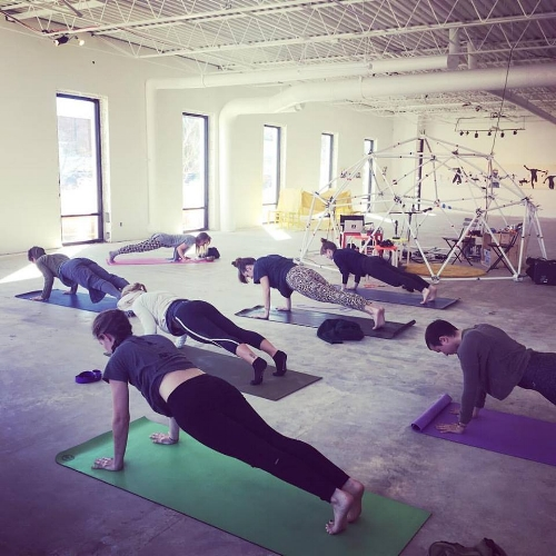 2016 Yoga hour with Maggie Benoit