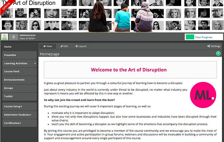 THE ART OF DISRUPTION — Mandy Lebides