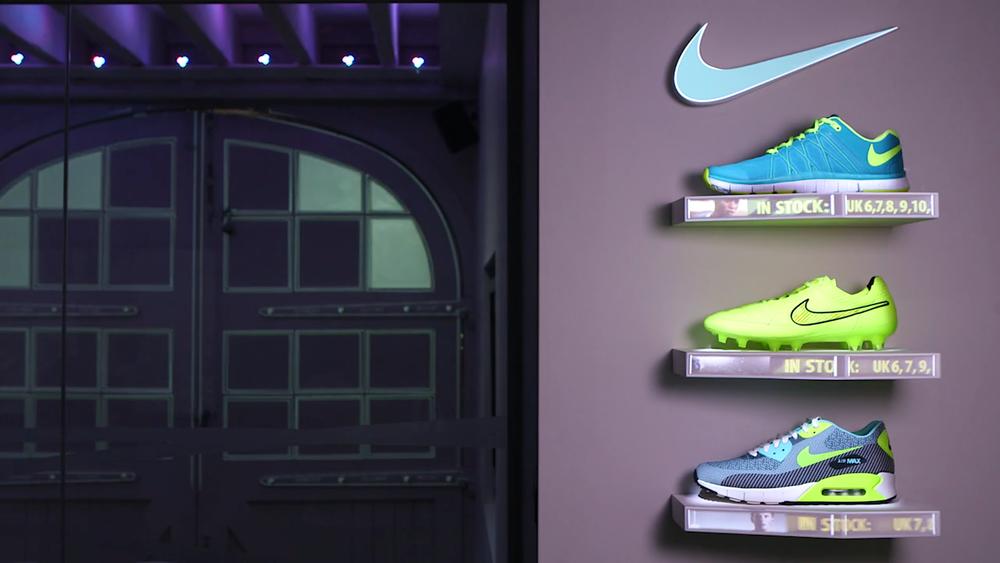nike interactive shoe retail display