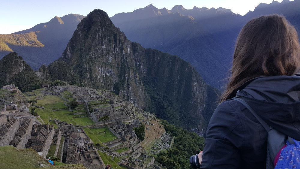 Gazing over Machu Picchu