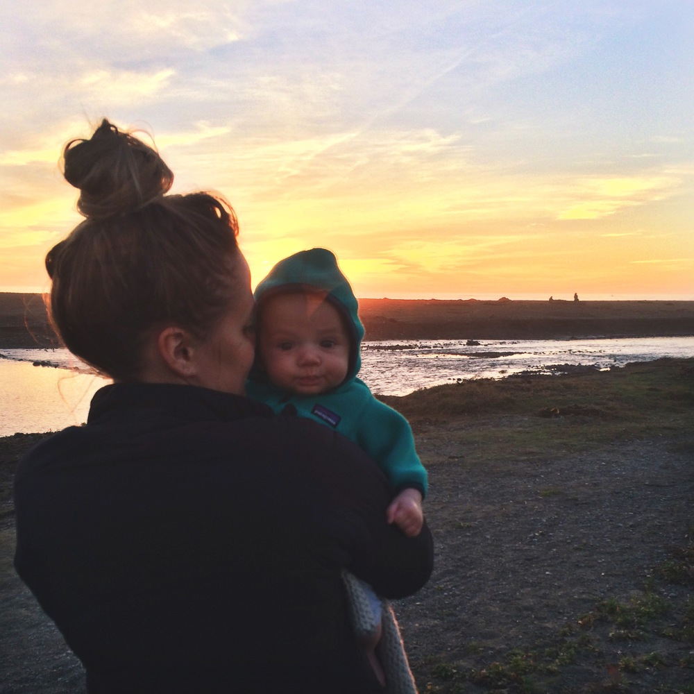 sunset at San Simeon State Beach!