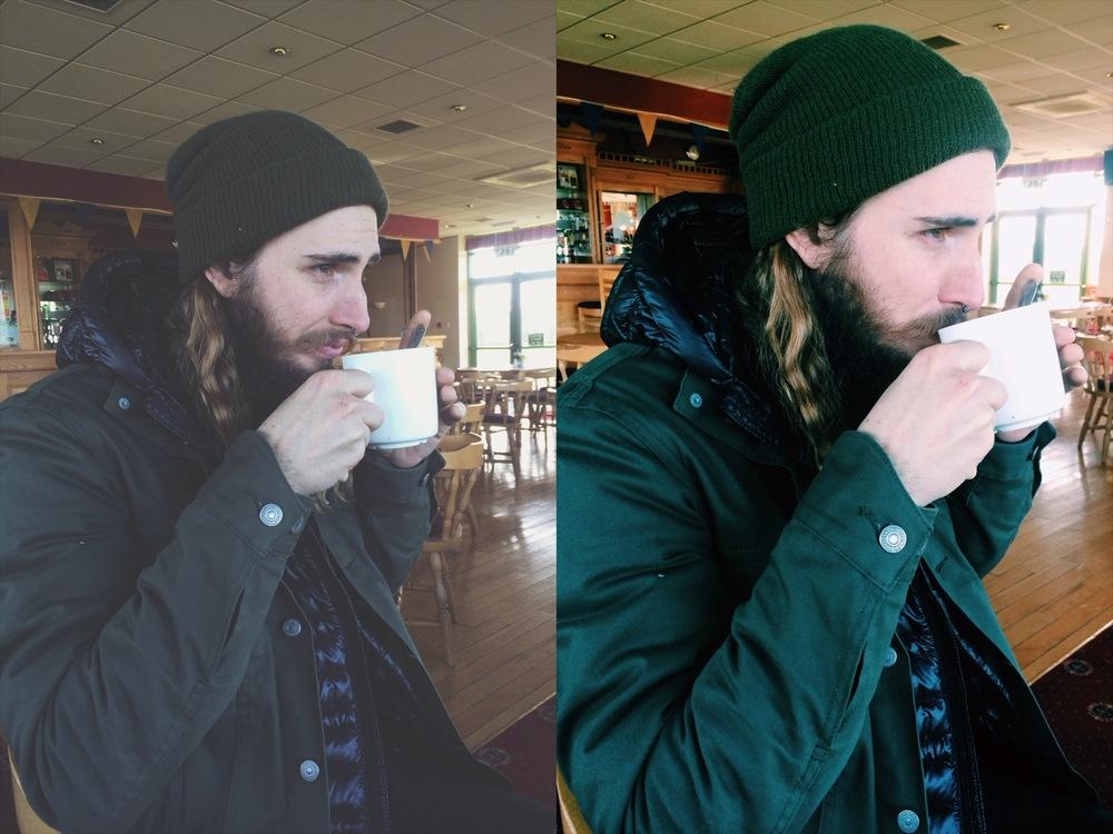 coffee + breakfast at a pub