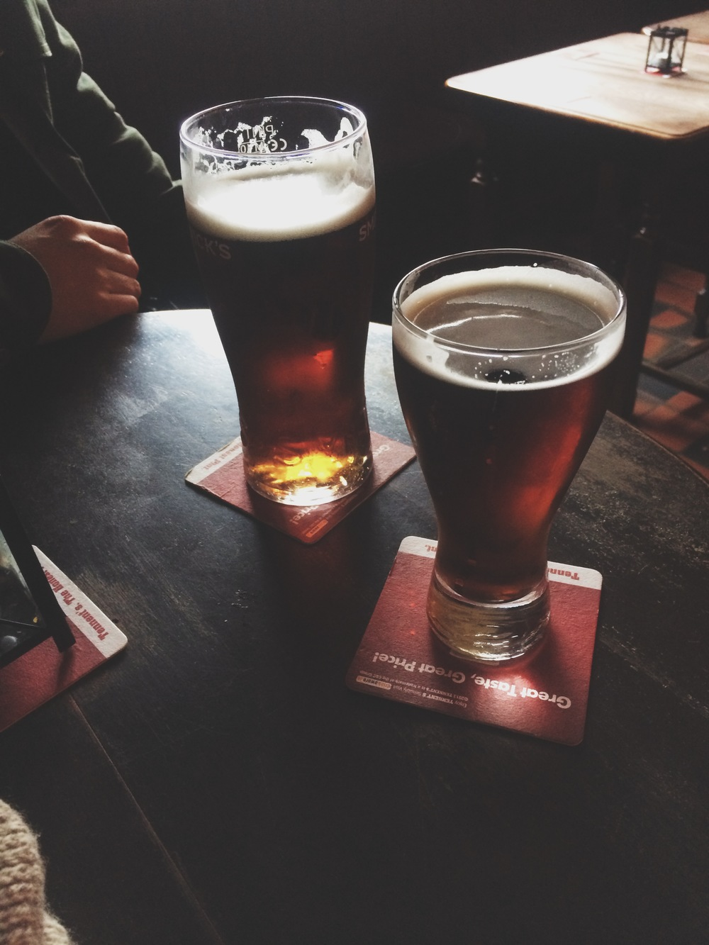 We tried a lot of different beers but Smithwicks became one of our favorites