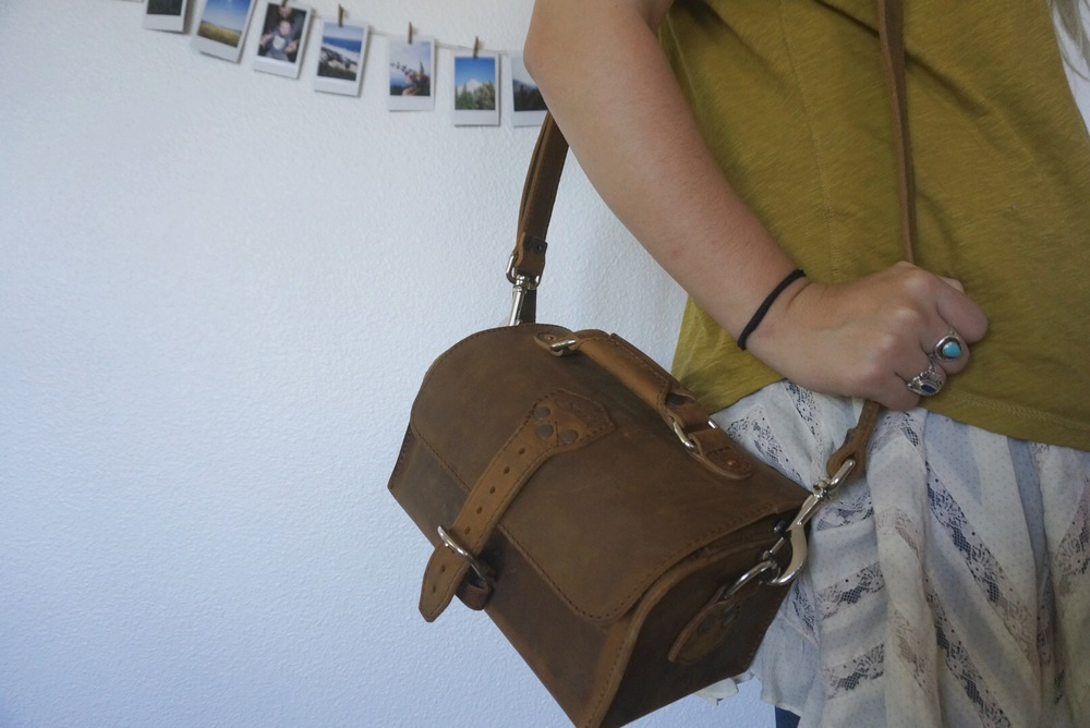 this was my Mother's Day present from Zach! a Saddleback Leather camera bag!