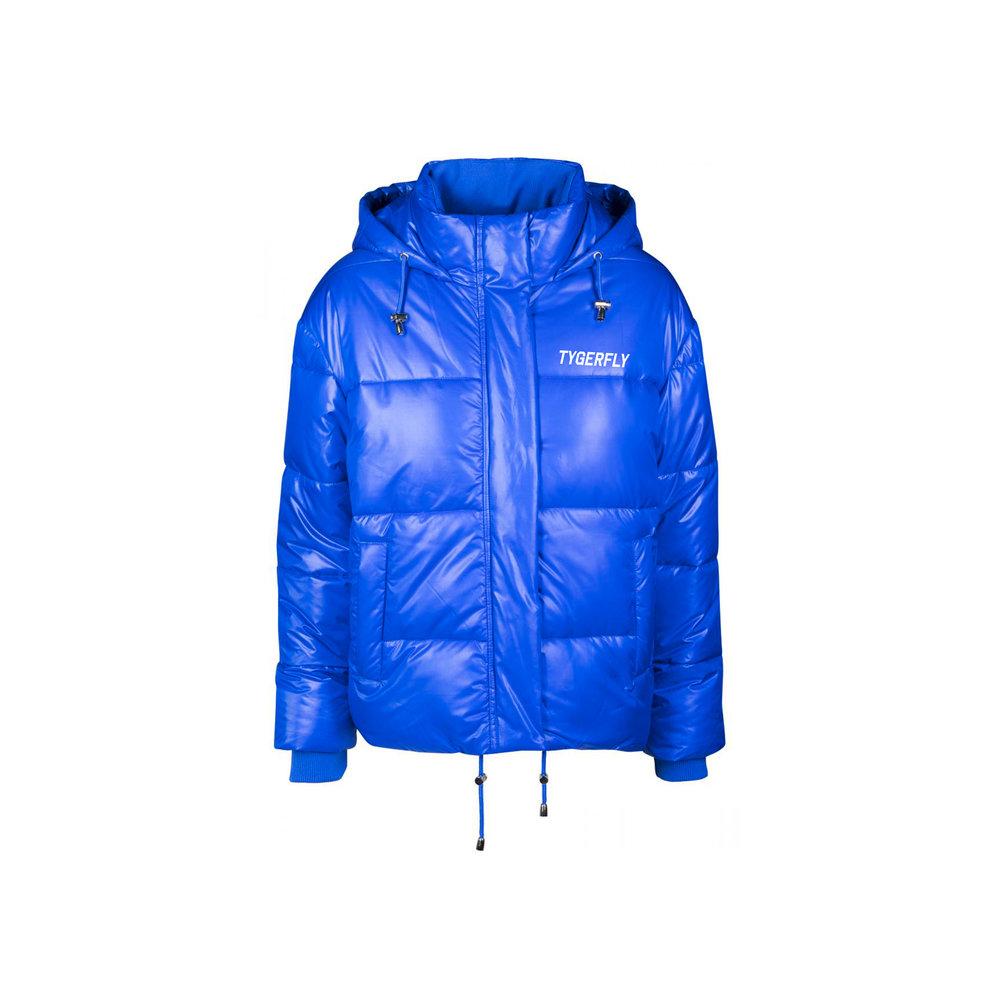 Blauer damen jacke blau