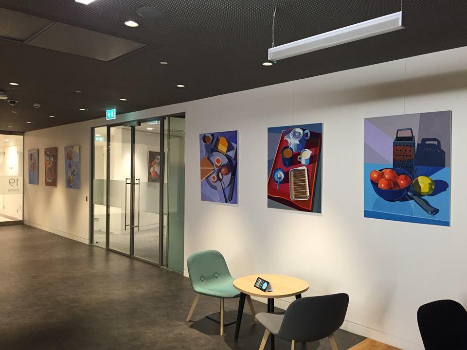 Art in staff breakout area