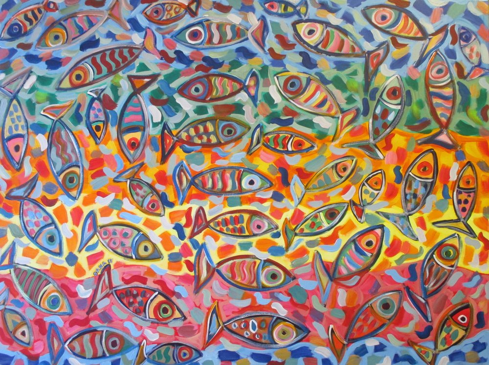 'Fish Rainbow'  by Orna Schneerson-Pascal