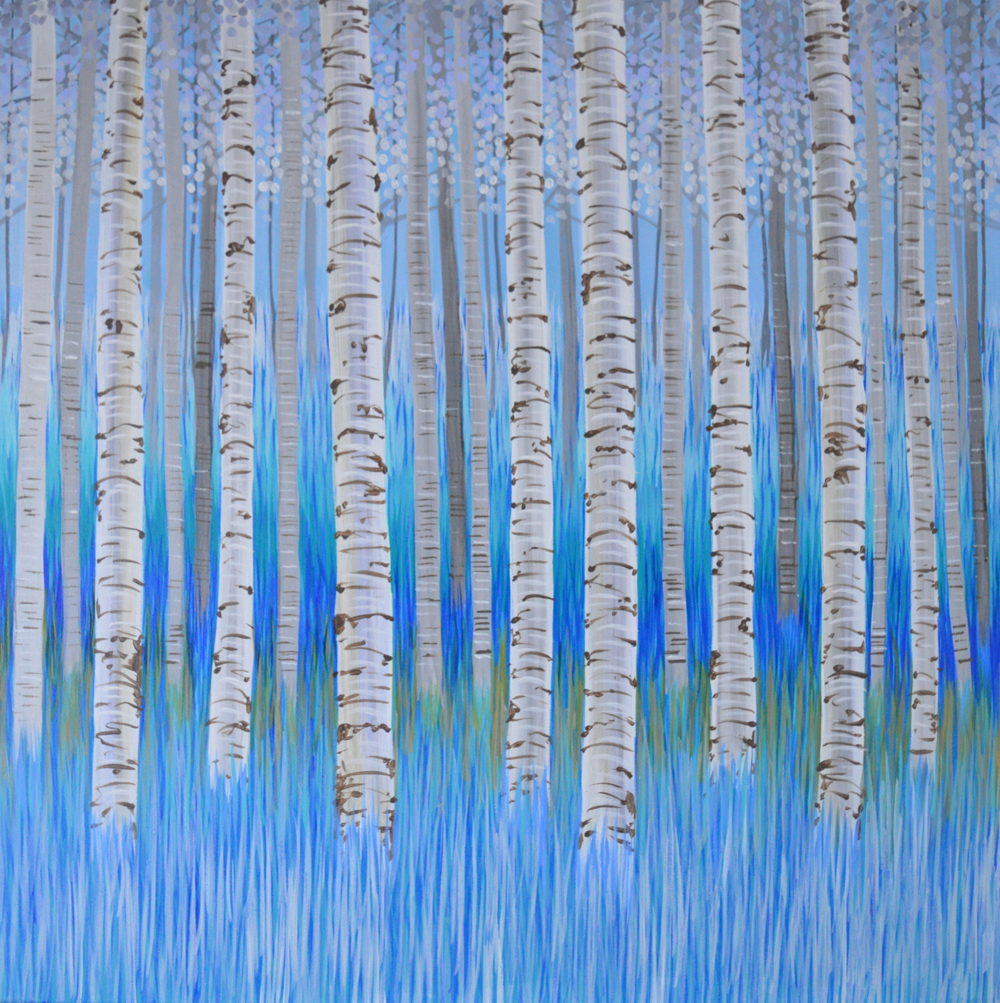Kirstin Wood 'Winter Birch Trees'  £540.00